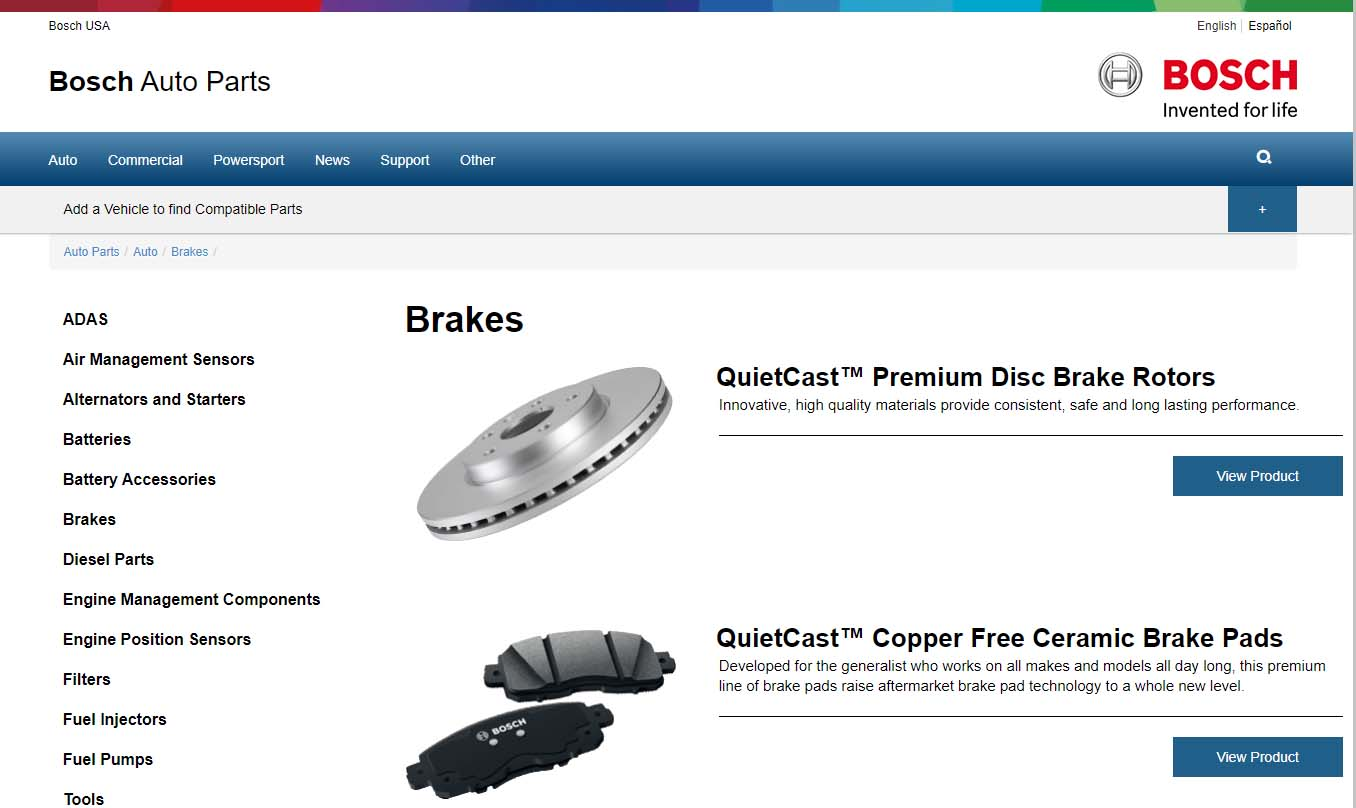 bosch auto parts-bosch brakes